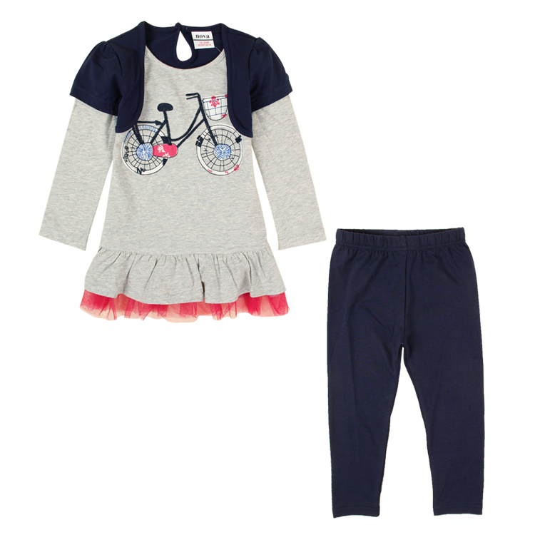2014 autumn girls clothing sets long sleeve girl top pants active children set HG4820