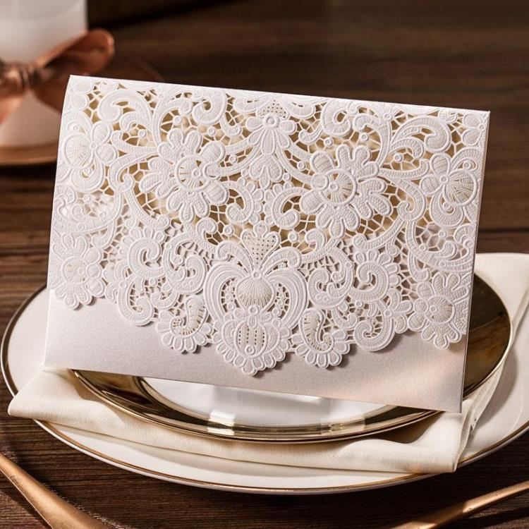 1pcs sample card Laser Flowers Greeting Hollow Out Cut Wedding Invitations Paper Cards Party Decoration Wedding Favors (white)(China (Mainland))