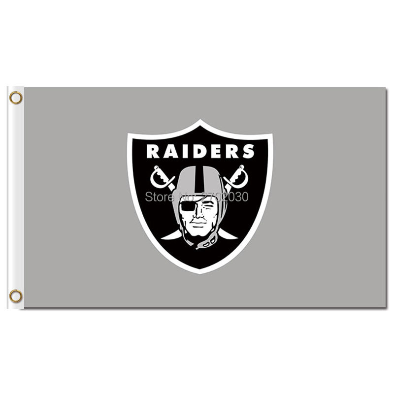 Oakland Raiders Flag Nation 3ft X 5ft Banner Football World Series 2016 Colors Custom Oakland Raiders Jersey Flag(China (Mainland))