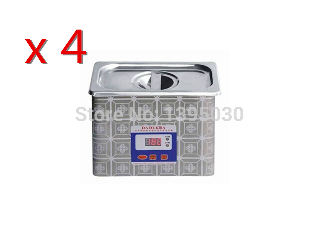 Фотография 4PCS/Lot Free Shipping By DHL Stainless steel Ultrasound Cleaner Washer Ultrasonic Cleaning Machine Baths Washing Denture
