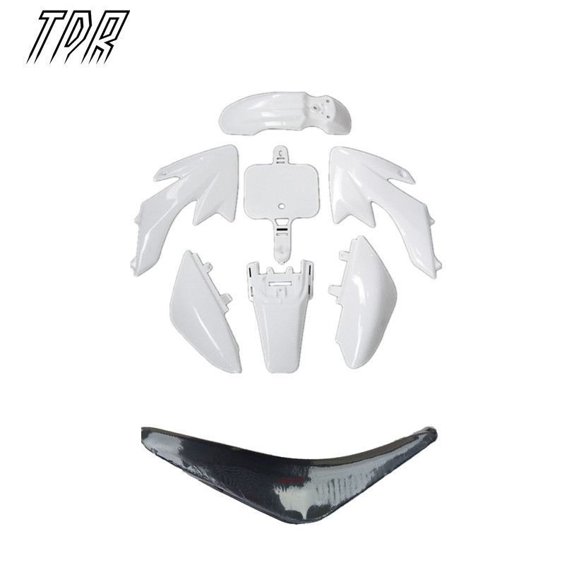 TDR Motorcycle Accessories Pit Bike Plastic White + Seat Set CRF50 50cc 110cc 125cc 140cc Dirt bike 2Set for Honda HHY(China (Mainland))