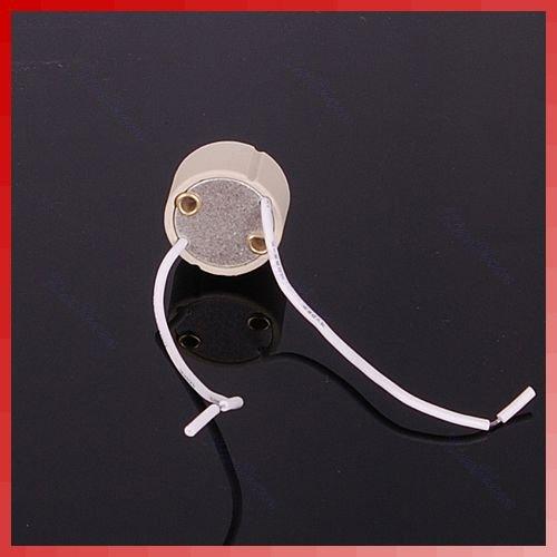 -S72Free Shipping 10pcs/lot GU10 Base Socket Lamp Holder Ceramic Wire Connector(China (Mainland))
