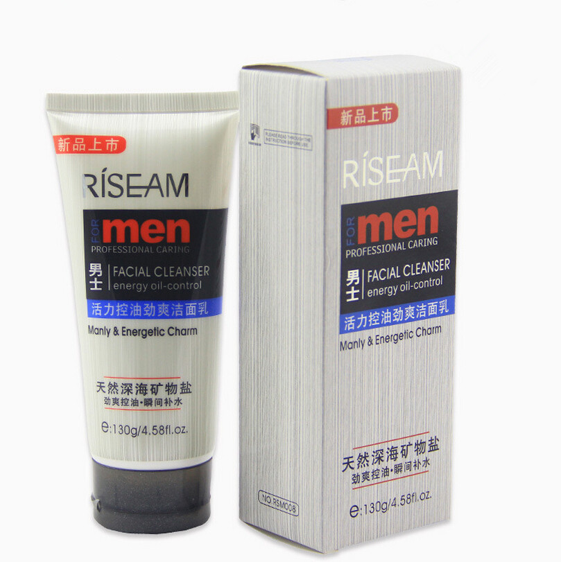 1pcs Mineral Salts Face Cleaner Men Cleaning Face Oil Control Skin Cleaner to Face(China (Mainland))