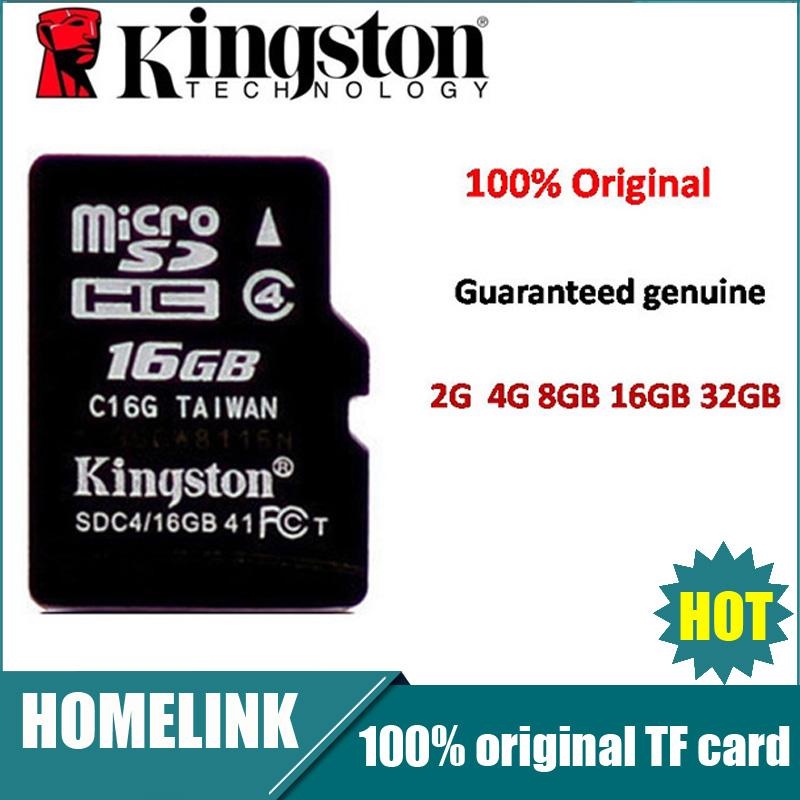 Original Kingston TF Card Micro Sd Card SD C4 Class 4 Memory Card Cards Cartao Memoria, Mini Sd Flesh 32GB 16GB 8GB 4GB(China (Mainland))