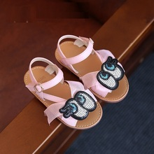 Hug Me Gilrs Sandals 2016 new Kids shoes girls sandals summer princess casual barefoot gladiator Roma sandals for girls BB-733