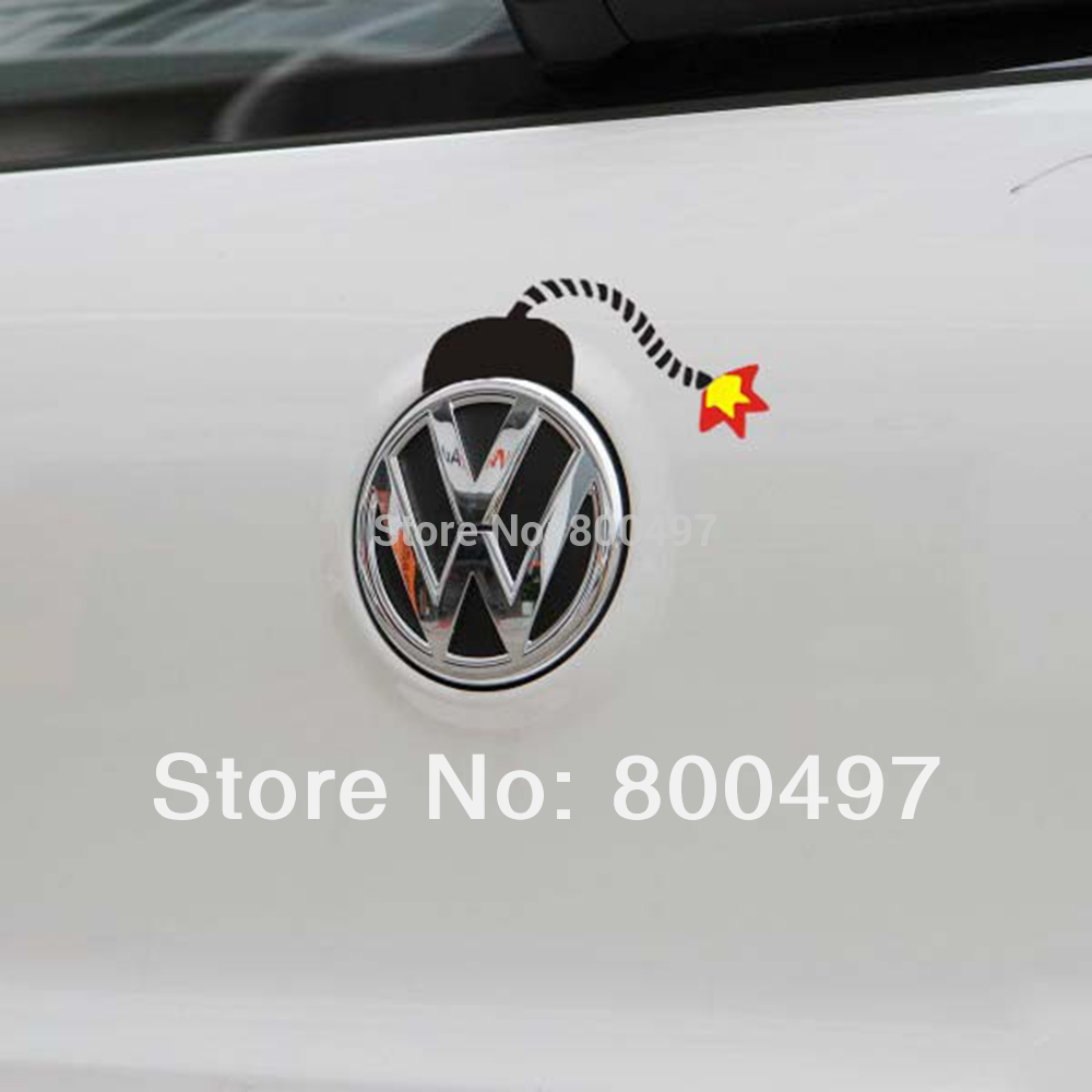 Design a car decal online - Newest Design Car Stickers Funny Bomb Design Car Decal For Volkswagen Vw Golf Gti Touareg Tiguan
