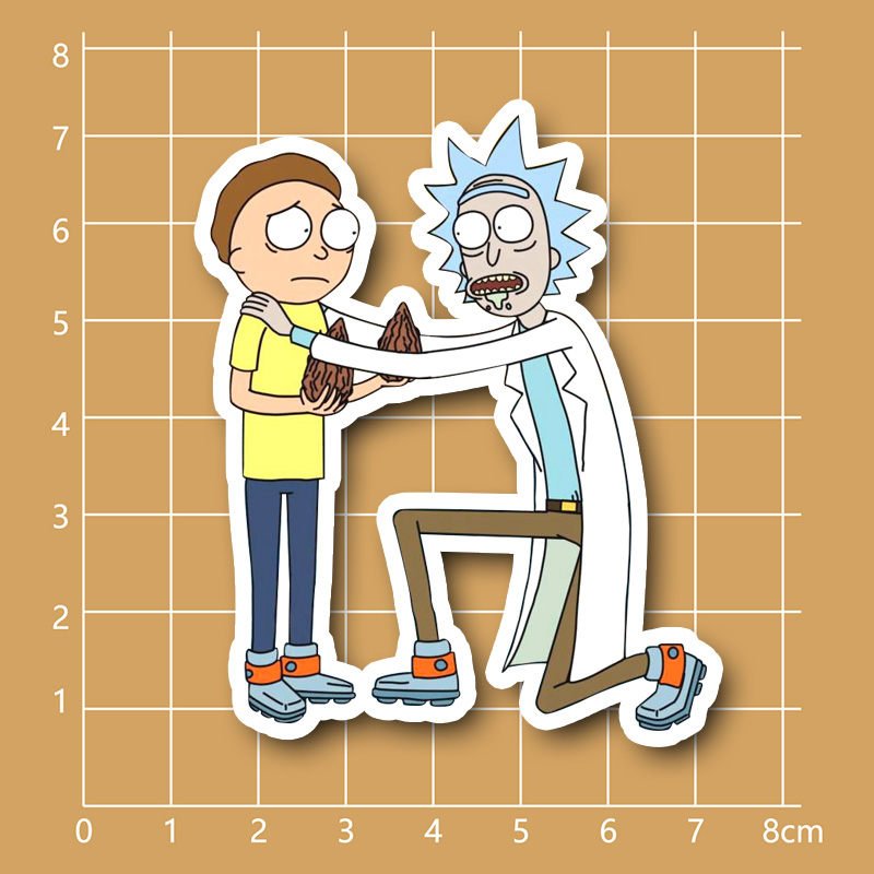 Rick and Morty Pilot Seeds waterproof PVC sticker for Fixed Gear Car Suitcase Notebook Refrigerator Skateboard<br><br>Aliexpress