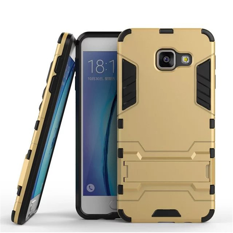 A3 2016 Case Hybrid Kickstand 2 in1 combo Bracket Stand Case + Heavy Duty Armor Phone Back case For Samsung Galaxy A3 2016(China (Mainland))