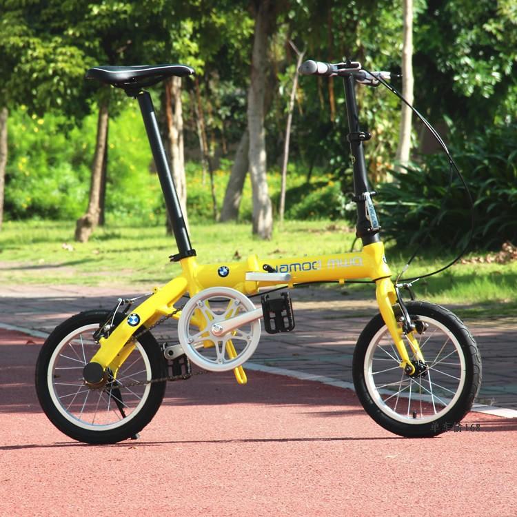 2014 New Light 14 aluminum alloy folding bike folding bicycle road bike bmx Free Shipping(China (Mainland))