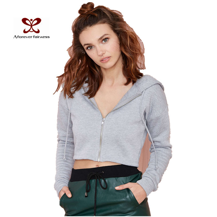 Women Coat 2015 Gray Coats Women Long Sleeve Women Coats Hooded Zipper Women Coat Spring NC-668(China (Mainland))