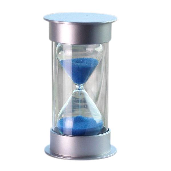 5pcs/lot Plastic Crystal Sandglass 15 Minutes Sand Clock Decoration Sandglass Timer blue(China (Mainland))