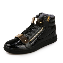 Hot sales! 2015 Spring Fashion Causal GZ Brand Men Shoes High Top Metal Sequins Men Causal Shoes Walking Shoes For Autumn(China (Mainland))