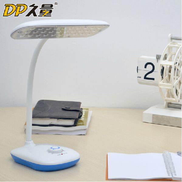 Hot sell! 3d rotating LED lamp desk, dimming/charge study desk lamp table led reading light headboard FAST Ship(China (Mainland))