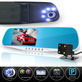 dual lens car camera rearview mirror auto dvrs cars dvr recorder video registrator full hd1080p night