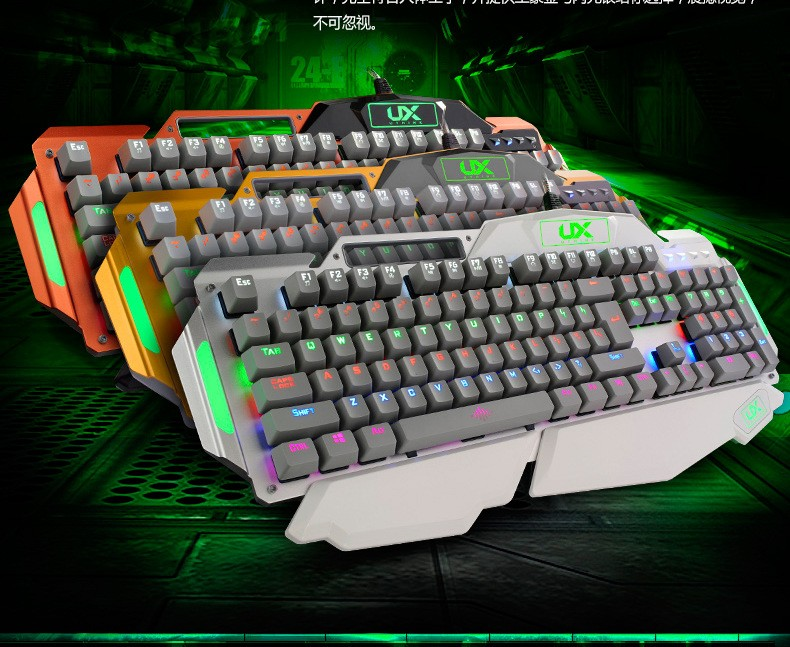 Top quality backlight Mechanical Gaming Keyboard Wired Usb Led Multimedia Luminous Computer Keyboard for Desktop Laptop(China (Mainland))