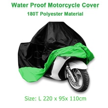 Size L 220 x 95x 110cm Motorcycle Covering Waterproof Scooter Cover UV resistant Heavy Racing Bike Outdoor Cover Green D10