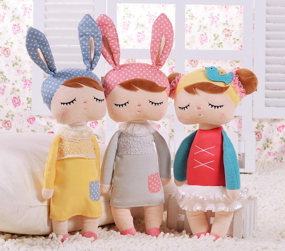 Cute Metoo Angela Rabbit Dolls Cartoon Animal Design Stuffed Babies Plush Doll for Kids Birthday / Christmas Gift Children Toy(China (Mainland))