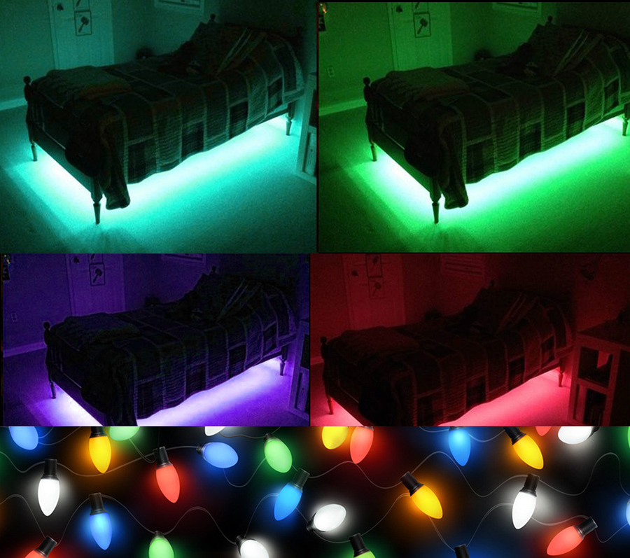 5M 3528 RGB Waterproof 300 Led SMD Flexible Light Strip Lamp+44 key IR+12V 2A Power Supply