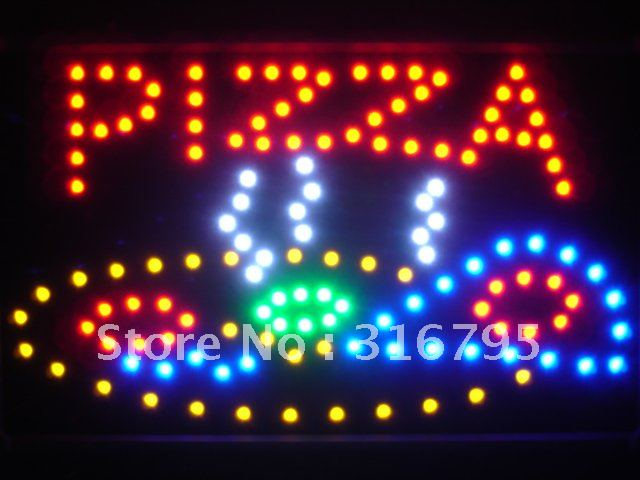 led060-r Pizza Shop LED Neon Sign WhiteBoard Wholesale Dropshipping(China (Mainland))
