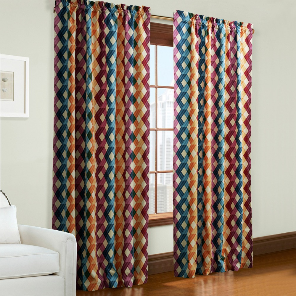Multi Colored Curtain Panels TWOPAGES One Panel