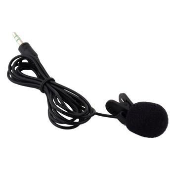 Новый Черный Портативный Мини 3.5mm 30 Гц-15000 Гц Рулевой Нагрудные Lavalier Клип Микрофон для Лекции Преподавания Уроков образование