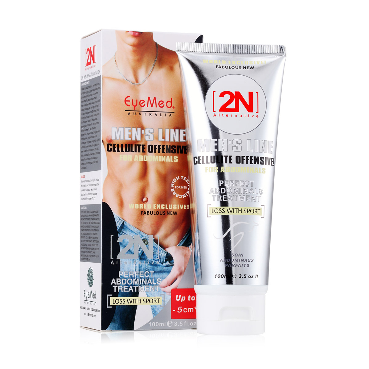 Powerful 2n MEN LINE Cellulite Offensive Perfect Abdominal Treatment Muscles Stronger Man Full-Body Slimming Cream free shipping(China (Mainland))