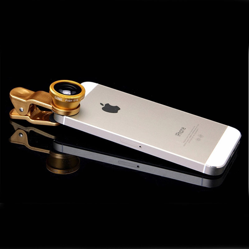 Fish Eye 3 In 1 Universal Clip Camera Cell Phone Lens Fish Eye Macro Wide Angle Camera for iPhone 4 5 6 Samsung S4 S5 S6 Fisheye(China (Mainland))
