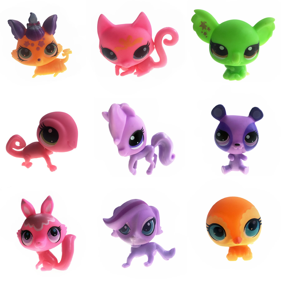 1Pcs 9 Style Littlest Pet Shop Dog Cat Cartoon Toy Selectable Mini Model Toy For Kids Children Action Figure 4-6cm(China (Mainland))