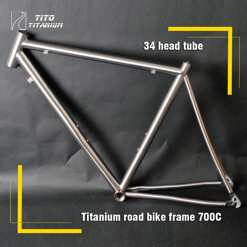 Free shipping !!! TiTo titanium road bike frame 700C titanium road bicycle outside line(China (Mainland))