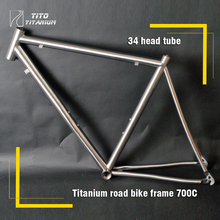 Free shipping !!! TiTo titanium  road bike frame 700C titanium road bicycle outside line(China (Mainland))
