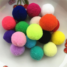 Buy 50pcs Approx 27-30mm Multi Color Pompom Fur Craft DIY Soft Pom Poms Wedding Decoration/Home Decoration Accessories Free Ship for $1.19 in AliExpress store