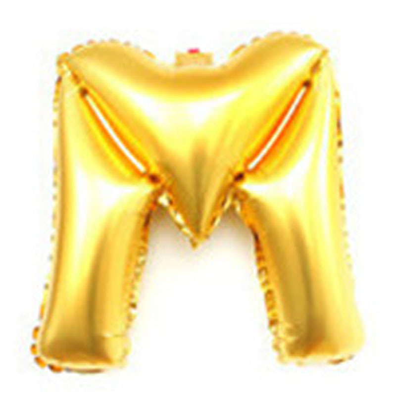 40 inch cheap childrens party decoration supplies big oversized large giant gold mylar letter alphabet balloons(China (Mainland))