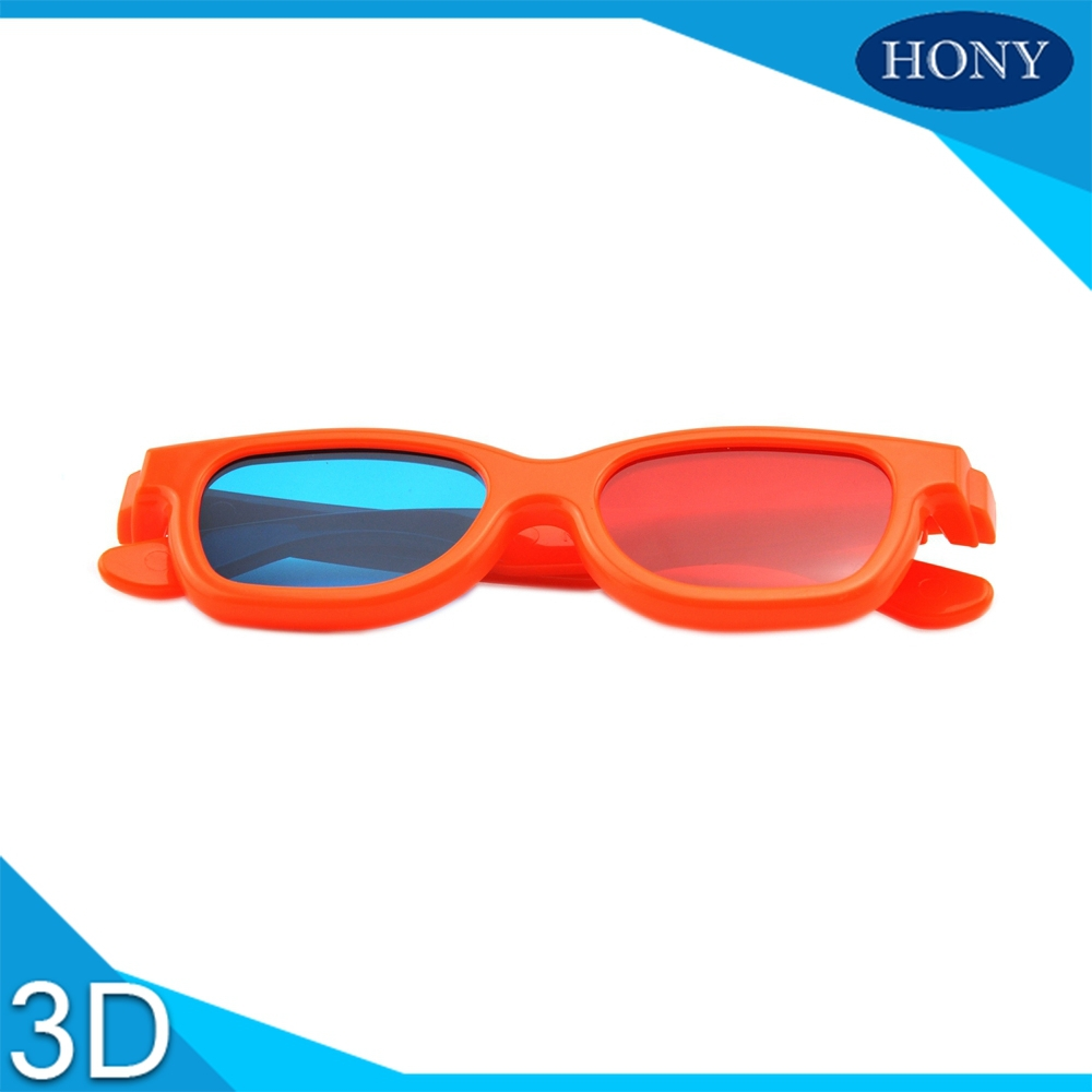 Free shipping Passive Anaglyph Glasses Red Blue 3d glasses For Kids Use for 3d picture and normal tv PL0002RC blue red lenses(China (Mainland))