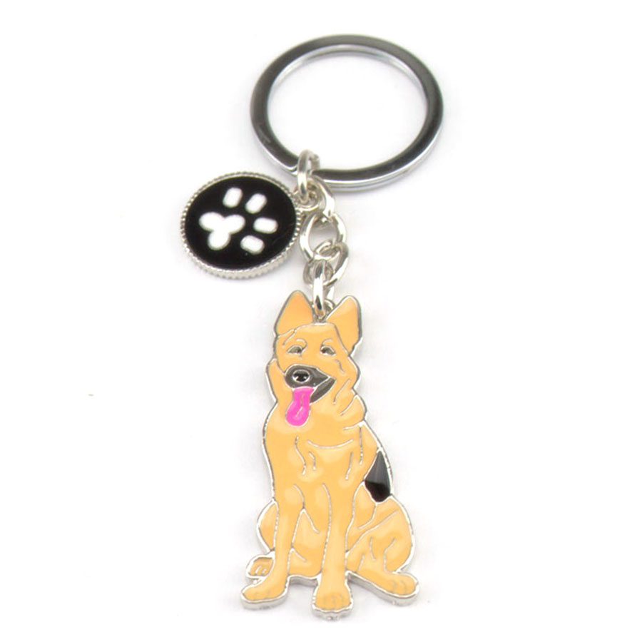 Chains for men Dogs Keychains Keys German Shepherd Dog Key Holder Zinc Alloy Charms for Bags Factory Wholesale Animal Keyring(China (Mainland))