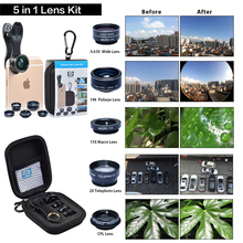 Buy APEXEL HD Camera Lens Kit 5 1 iPhone 6/6s 6/6s Plus SE Samsung Galaxy S7/S7 Edge S6/S6 Edge Android Smart Phone for $10.50 in AliExpress store
