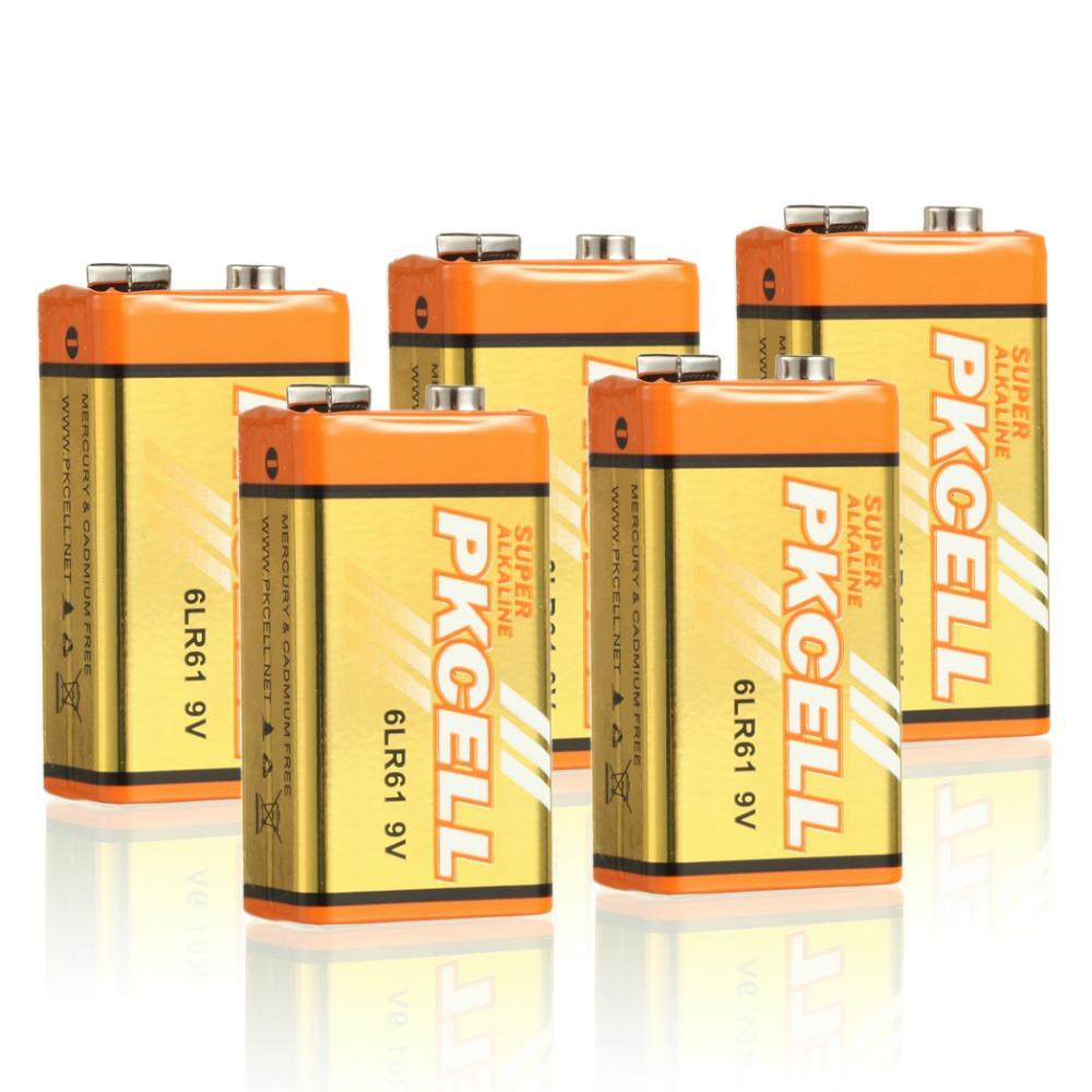 5 pcs 6LR61 alkaline battery dry battery 9V single-use batteries<br><br>Aliexpress