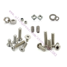 Ultimaker 2 DIY 3D Printer Nuts & Bolts Screw Full Kit,3d printer accessories Set Screw Washer Large Hex nut