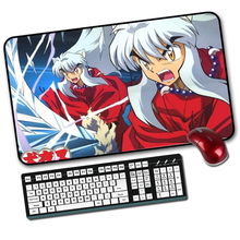 Buy large anime Inuyasha Gaming Mouse Pad Locking Edge 600*350 Mause Mat Dota 2 cs go computer PC game gamer mousepad for $9.51 in AliExpress store