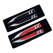 1Set Side Wing Fender Badge Emblem Metal Alloy R Logo Sticker VW Golf 6 7 MK7 MK6 GTI Tiguan Polo CC Jetta R32 R36 R400 R50 - Shenzhen Ledsee Intl Co.,Ltd store
