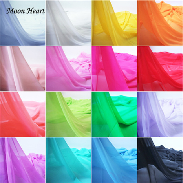 100cm*150cm Super Deal!100% Polyester Chiffon Fabric 17 Colors For Silk Dress Skirt Georgette Curtain Silky Soft Fabrics(China (Mainland))