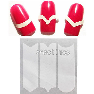 Prefect French Manicure Edge Tip Guides Strip Nail Art Toes(China (Mainland))