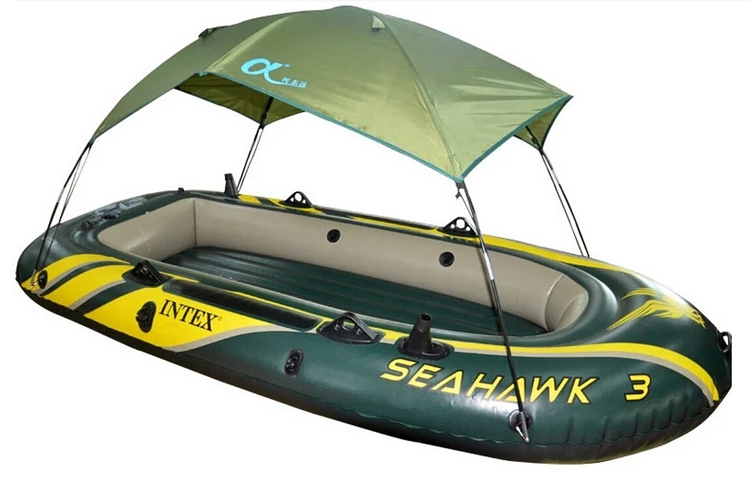 High quality intex inflatable boat tent sun shelter for Inflatable boats for fishing