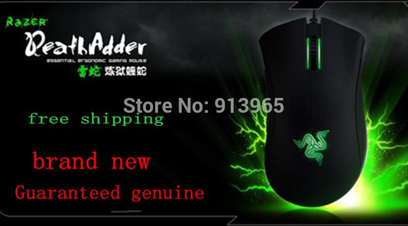 Original Razer Deathadder 2013+ 6400DPI,4G,game mouse Brand New,Without Original Box ,Suppot Razer Synapse 2.0+Gift mouse bag(China (Mainland))