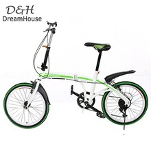 New Practical Portable Folding Foldable Bike 6-Speed Bicycle unisex Adult Bicycles Green Travel vehicles us6(China (Mainland))