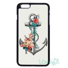 Fit for iPhone 4 4s 5 5s 5c se 6 6s 7 plus ipod touch 4/5/6 back skins cellphone case cover Sailor Floral Stripe Anchor