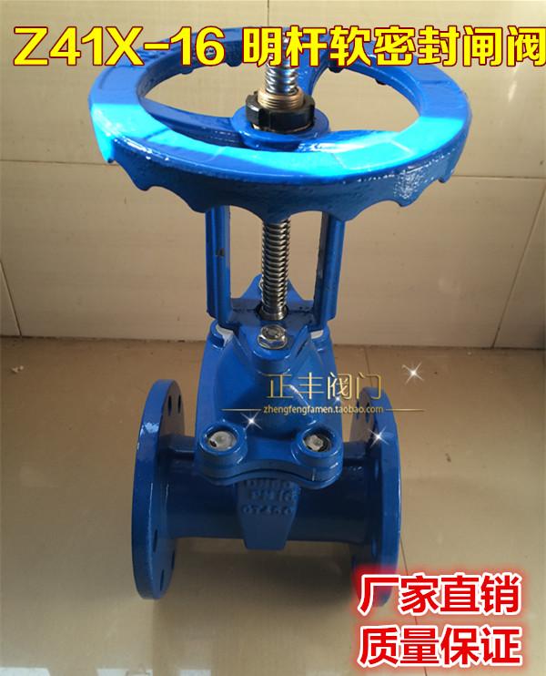 Z41X-16 Ming rod elastic seat sealing gate valve DN125 DN150 DN200 DN250 DN300 DN100(China (Mainland))