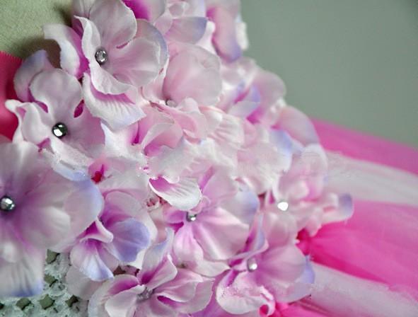 Скидки на 2-8 Т На Заказ Супер красивые Платья для девочек/Детская одежда Цветочница платье детский праздник выступления костюм