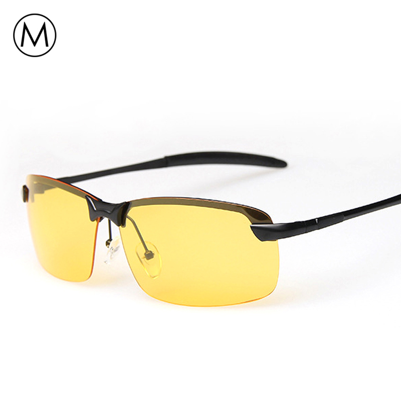 Meself brand with box men night driving glasses vision for Fishing sunglasses brands