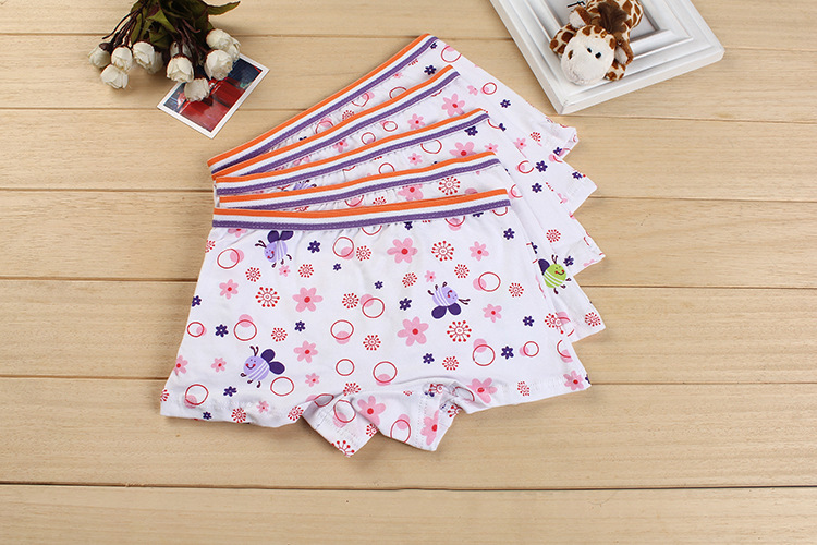 2015 New cute bees kids cotton boxer short soft spandex girl panties stretch cotton kids underwear lingerie intimate wholesale(China (Mainland))