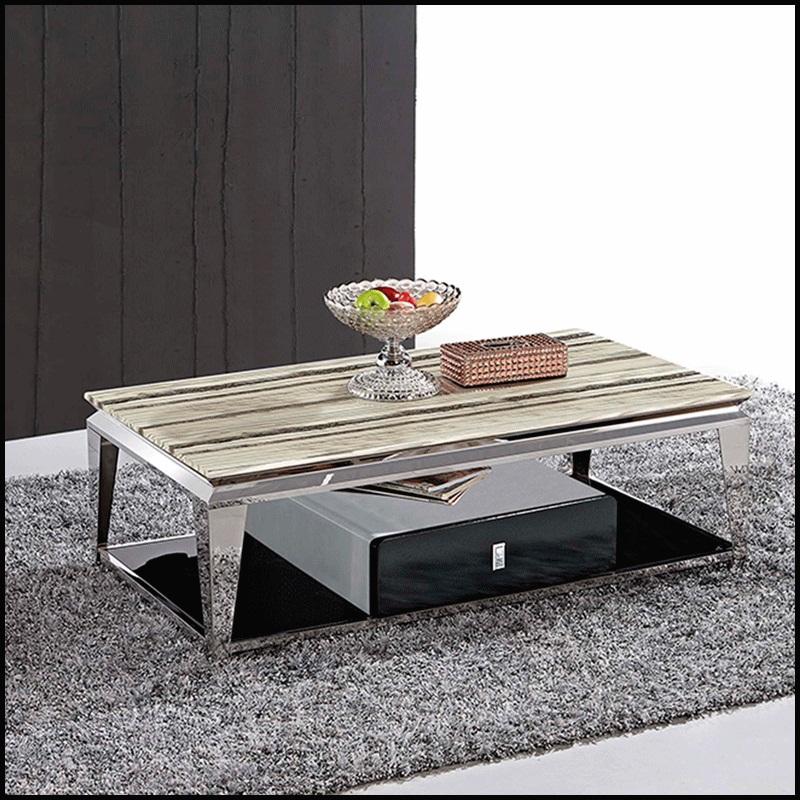 europe style jambes en acier inoxydable table basse dessus de marbre pour salon meubles de. Black Bedroom Furniture Sets. Home Design Ideas